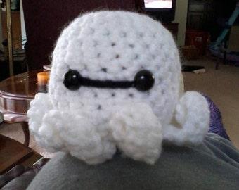 Crochet Baymax-inspired octopus amigurumi