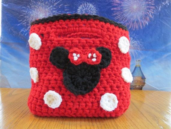 Free Crochet Mickey Mouse Purse Pattern : Pattern Minnie Mouse Purse with a Mickey Mouse Coin Purse ...
