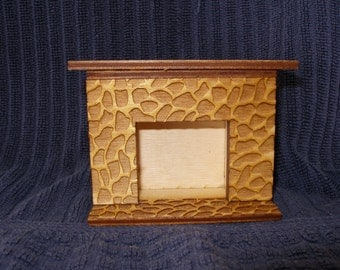 Miniature doll house fireplace stone look  dollhouse furniture