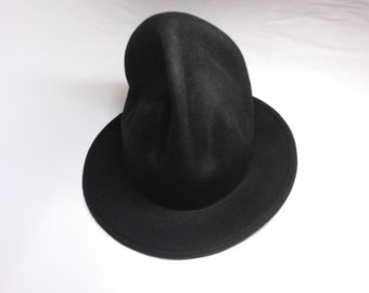 Black oversize Pharrell Williams Wool hat