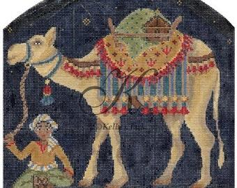 Handpainted Needlepoint KELLY Clark Nativity Mama CAMEL 18M -Free US Shipping!!!