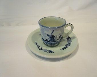 Delft cup and saucer, Demitasse, Delft china, Regina