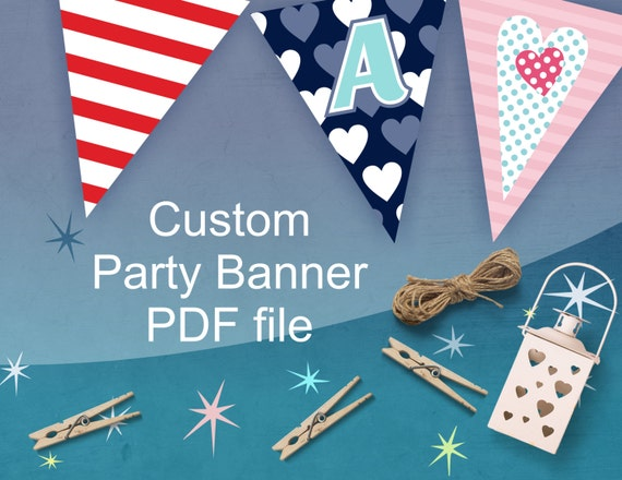 Order Here Your Custom Party Banner - Personalized Party Decorations - digital files only
