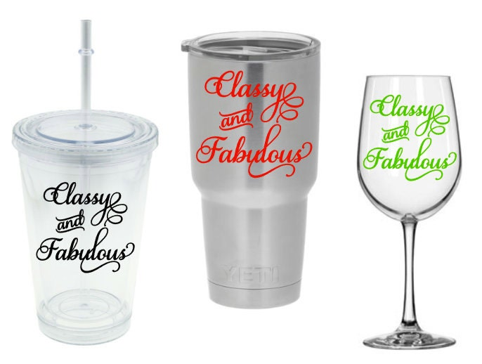 DIY Decal Classy And Fabulous Coco Chanel Quote Vinyl Decal For - Diy vinyl decals for wine glasses