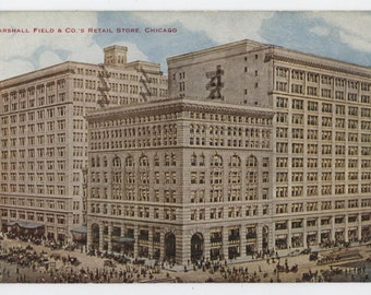 Chicago, Illinois, Marshall Field and Co.'s Retail Store, vintage post card