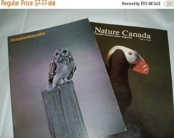 Vintage Nature magazines- Ontario Naturalist magazine- Nature Canada magazine- published in the 1970s- vintage nature books- nature refernce