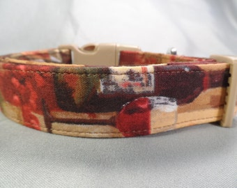 Watercolor Wine Dog Collar