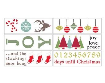 Deck the Halls DIY Christmas Stencil Kit