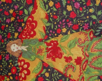 Vintage Holiday Angel Fabric by April Cornell for Moda --100% High Quality Cotton Rare and OOP