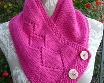 Diamonds & Lillies Pure Wool Neck-warmer  -  1567