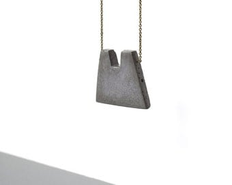 charcoal marbled concrete pendant