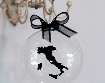 Italy Christmas Ornament, Custom, Travel, Mission, Adoption