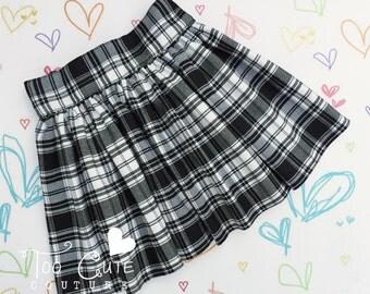 Black & White Tartan Skirt
