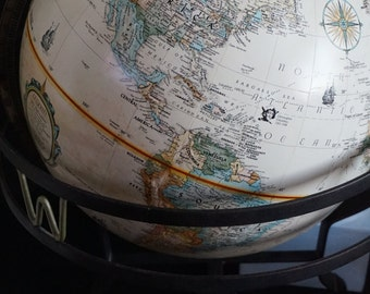 Vintage, Replogle 12 Inch World Classic Globe with Relief
