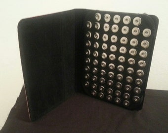 66 Base Snap Black / Grey Snap It Organizer Holder Case for 18mm 20mm Snaps  Chunk Button Popper Keeper