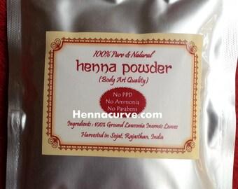 Hair & Body Henna 100gms Artisan Rajasthani Henna powder - Triple Sifted - 2017 crop For Hair And Body Art