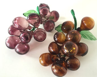 Large Blown Glass Grapes