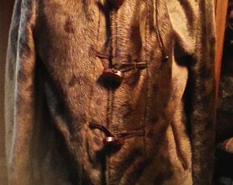 80s Robert Lewis Vtg. Eskimo Coat With Fur Trim Size 38