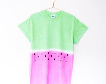 Tie Dye Watermelon T Shirt S/M/L/XL