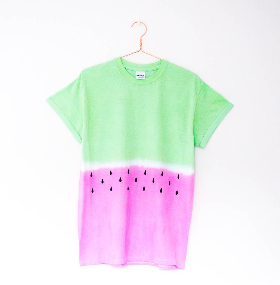 Tie Dye Watermelon T Shirt S M L Xl By Retrospectiveapparel