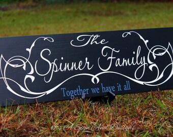 Custom Wood Signs, Custom Signs, Last Name Sign, Last Name, Personalized Family Name Signs, Family Sign, Family Established Sign, Est Sign
