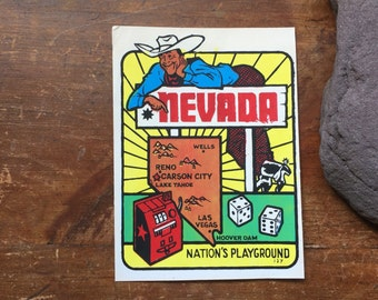 Vintage Nevada State Souvenir Decal