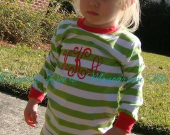 Christmas Pajamas, Monogrammed Polka Dot