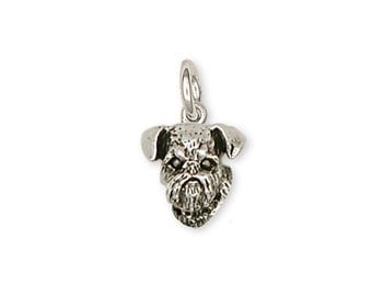 Brussels Griffon Charm Handmade Sterling Silver Dog Jewelry GF11-C