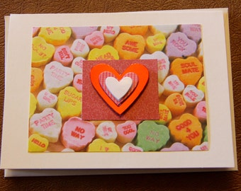 Handmade Cards, Handmade Valentine Cards, Handmade Anniversary Card, Heart Card