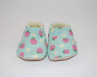 Strawberries Soft Sole Cloth Baby Shoe