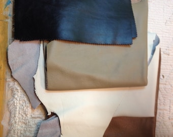 Leather Lot 2 lbs 15 oz (weight is approximate) #L1