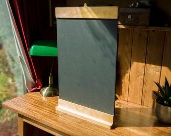 Large Pine Chalkboard - w/Duster and Chalk