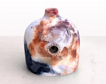 Pit Fired Ceramic Bottle Vessel