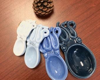 Ceramic Octopus Measuring Spoon Set