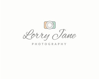 Photography Camera Logo Design - Photographer Logo, Premade Logo Design, Modern Logo Design, Shutter Logo, Photography Branding, Simple Logo