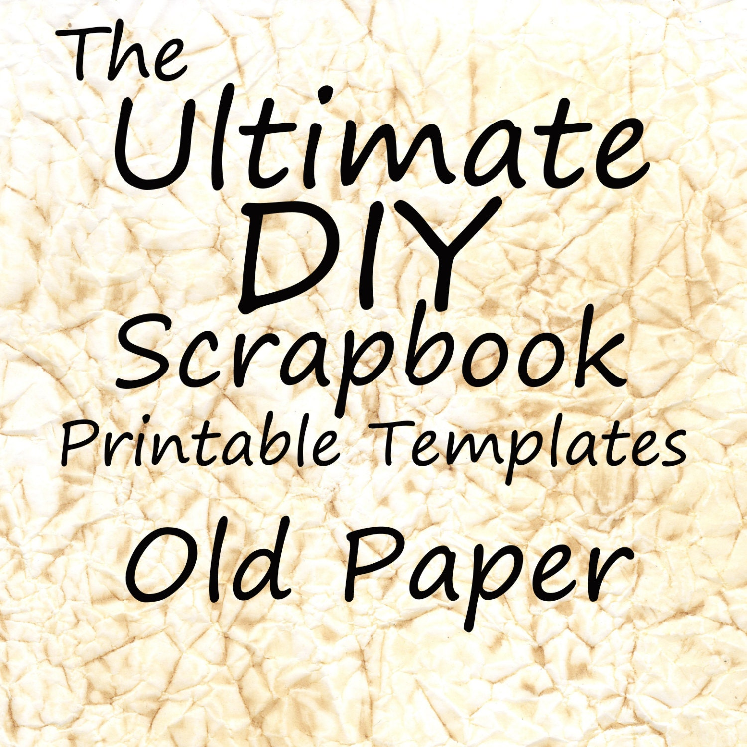 The Ultimate DIY Scrapbook Printable Templates Old Paper ...