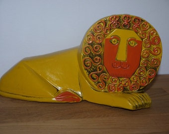 Pride Creation - Laurids Lönborg - Bank Lion - Mid Century - 1960 - Coin Bank - Paper Mache - RETRO