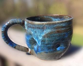 Pottery - Coffee Mug - Ceramic mug - Blue Mug - Blue ceramic mug