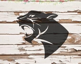 Black Panther, Cat SVG, PNG, DXF files, instant download