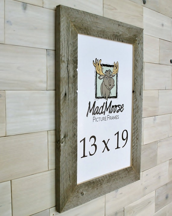 13x19 barn wood thin x 3 picture frame aka old rustic distressed reclaimed gray. Black Bedroom Furniture Sets. Home Design Ideas
