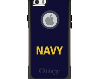 OtterBox Commuter for Apple iPhone 5S SE 5C 6 6S 7 8 PLUS X 10 - Custom Monogram - Any Colors - Yellow Navy