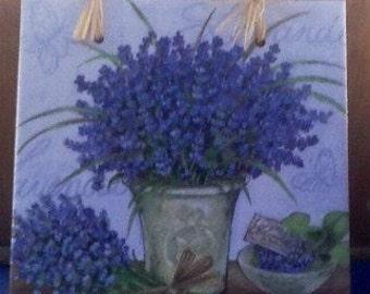 Lavender napkin tile