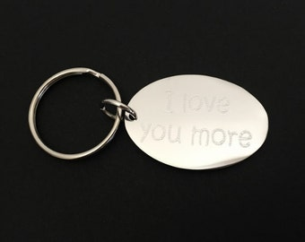 Personalized Key Ring. Silver Oval Key Chain. Engraved Key Ring. Friendship Key Chain. Graduation Key Chain.Groomsmen Gift.Father's Day Gift
