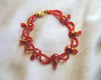 Phoenix Red Waves Bracelet