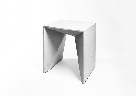 Stool Heinrich Concrete Furniture Stools Light Grey By Froboese