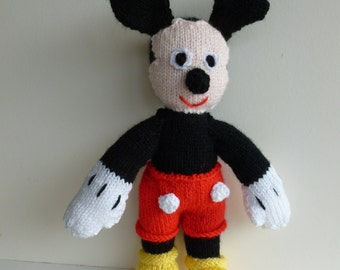 Knitted Mickey Mouse toy