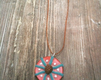 Mandala seed pendant necklace