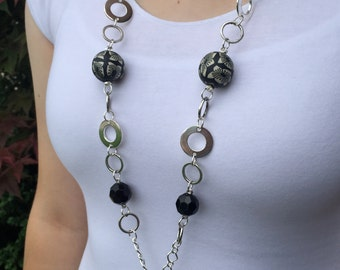 Midnight Flower Lanyard Necklace-on sale now!