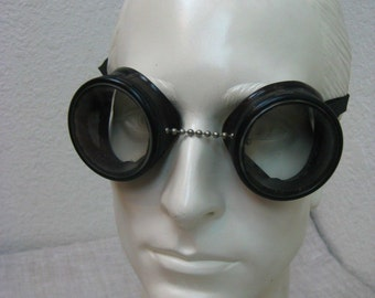 Vintage Burning Man Style Cesco Antique Safety Welding Goggles w/ Clear Lens