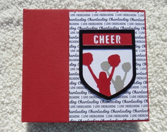 6x6 Cheer Scrapbook Photo Album in Red